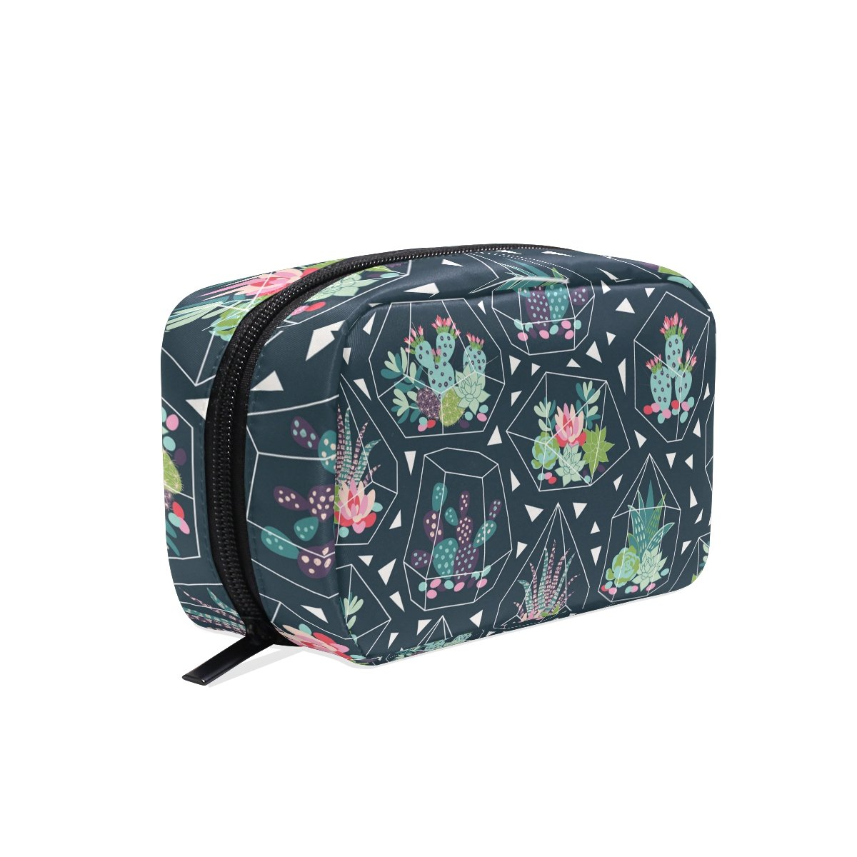 ALAZA Durable Cactus Pattern Beauty And Make Up Cosmetics Pouch/Bag/Case for Makeup Utensils And Toiletries Twill fabric