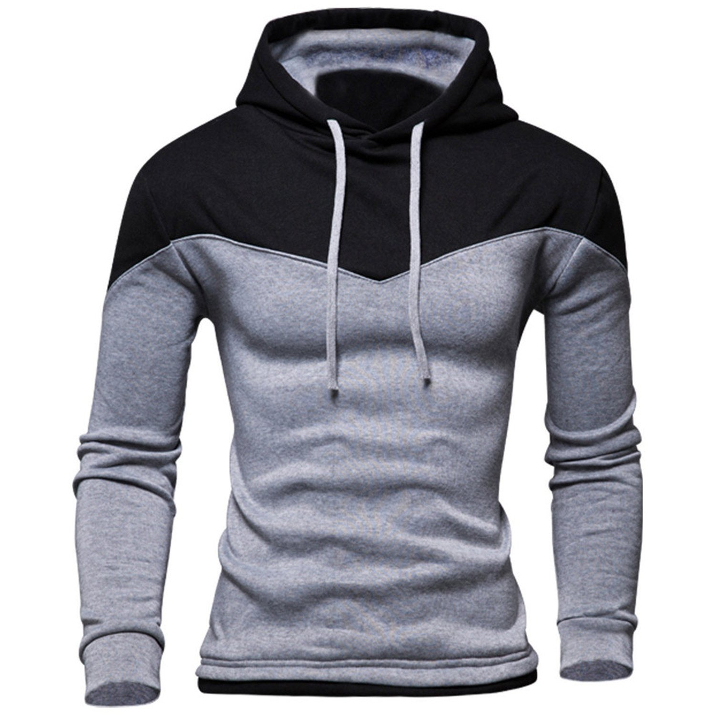 Hoodies Men Winter Male Sweatshirt Teenage Hoody Jacket Autumn Coat Patchwork