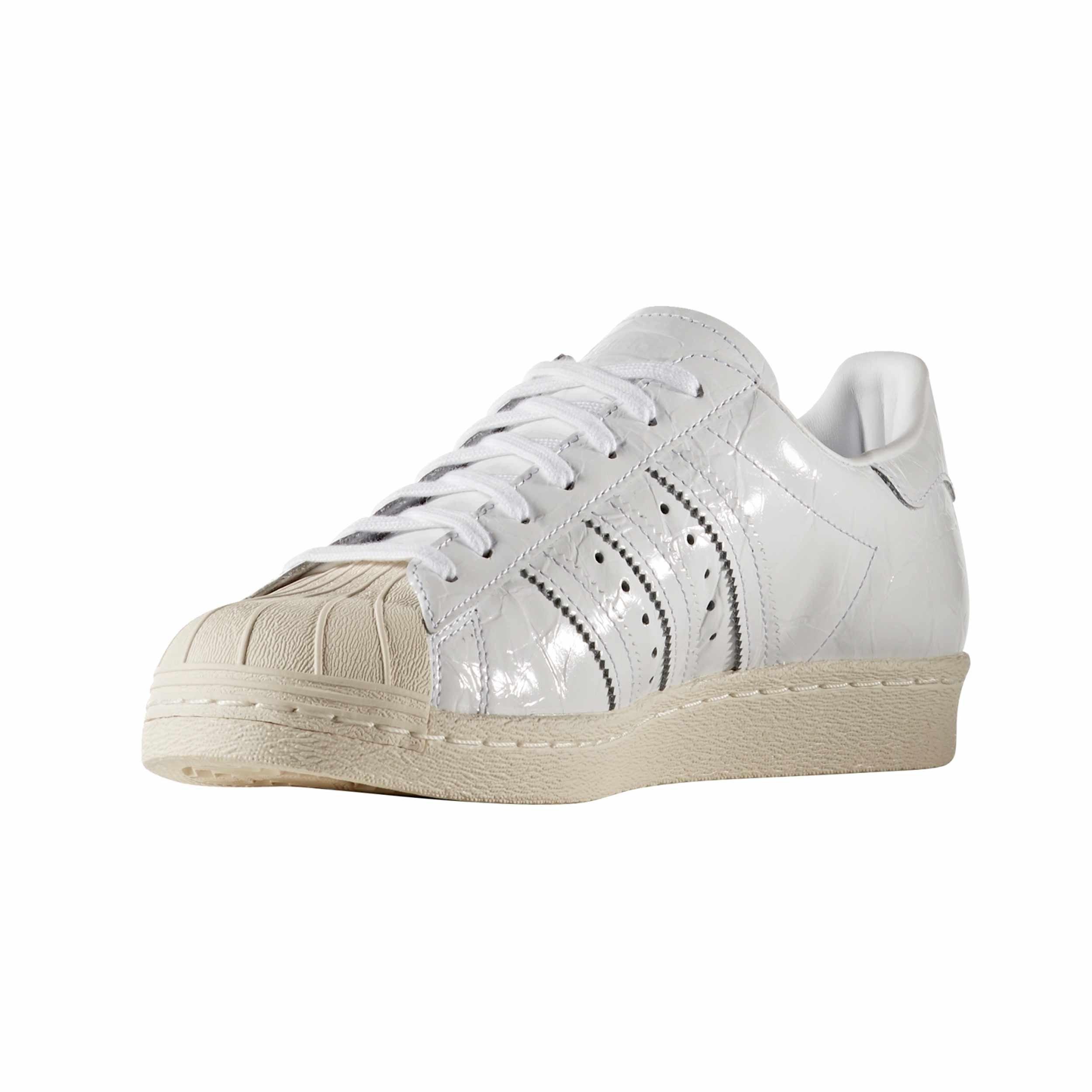 Adidas Superstar 80s Herren Weiß Hausschuhe Trainer Sneaker Lackleder , BB2056 Zake (44 EU - 9.5UK,)