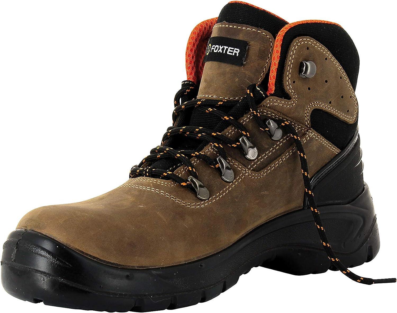 Impermeable Botas de Trabajo para Hombre Zapatos de Seguridad S3 SRC Foxter