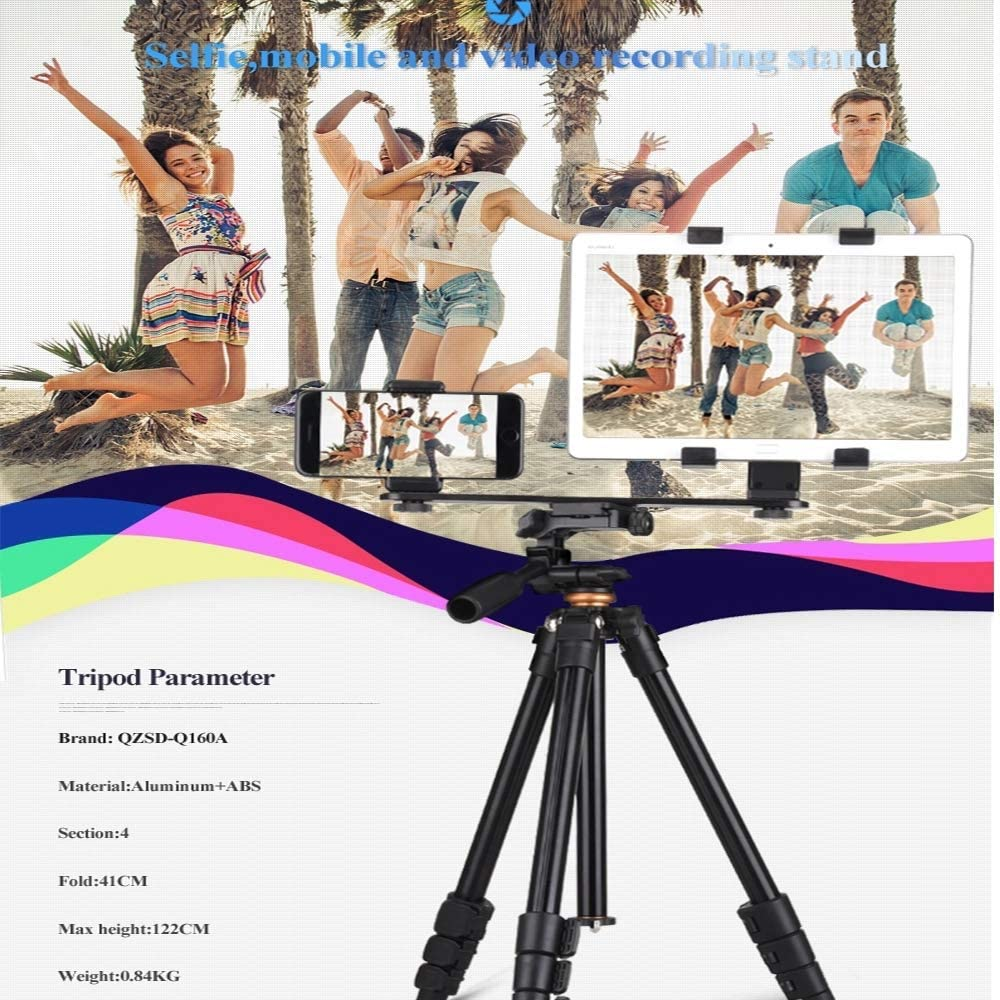 Professional Travel Camera Phone Holder 1//4 Universal Interface Z-XFY Camera Tripod Multifunctional Mobile Phone Portable Tripod for DSLR and Live Mobile