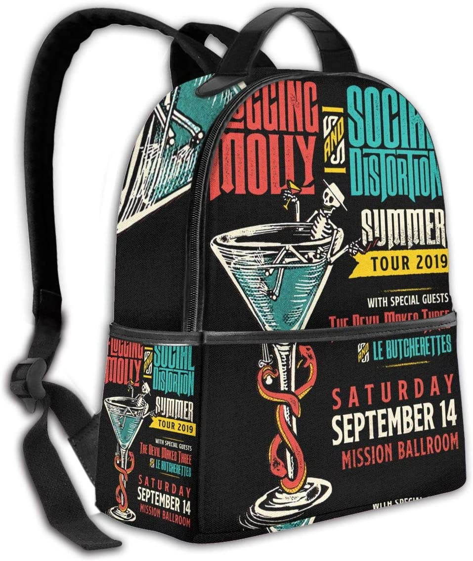 Flogging Molly Backpack Laptop Backpack Men And Women School Backpack Business Travel Waterproof Bag 15 Inch Backpack