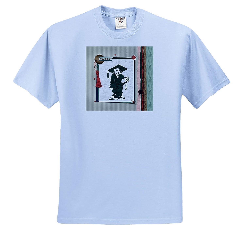 Tassel Graduation Fellow Holding Diploma 3dRose Beverly Turner Graduation Design Frame You Did It T-Shirts Stars