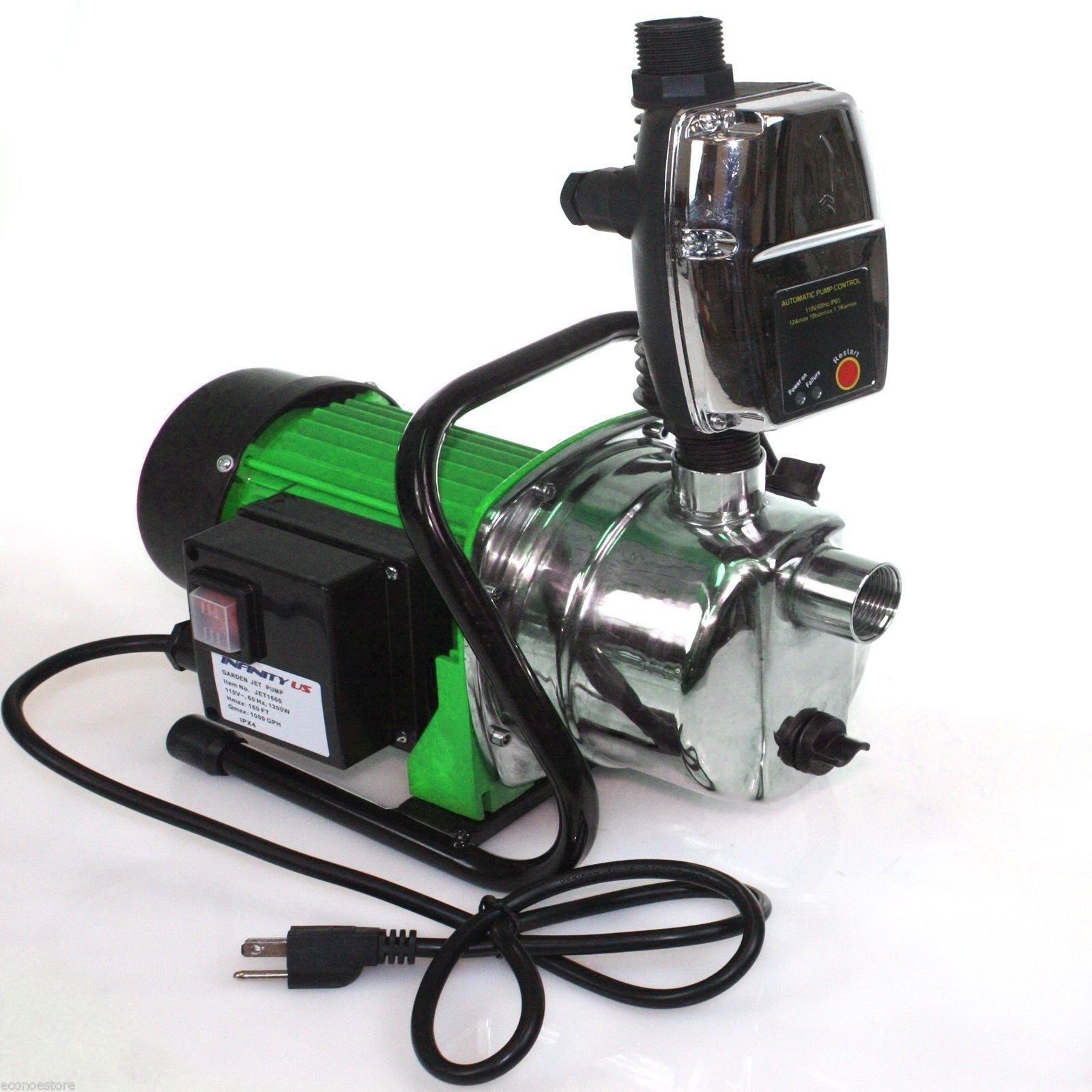 Combo 1.6 HP 1200W Jet Shallow Water Well Booster Pump w/ Pressure Controller By Allgoodsdelight365