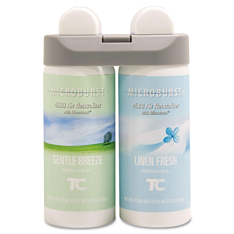 Rubbermaid Commercial Microburst Duet Refills, Gentle Breeze/Linen Fresh, 3oz, 4/Carton