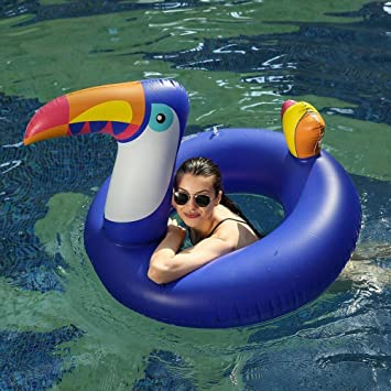 ATYMD Flotador Inflable Tumbona Inflable Gigante Piscina de ...