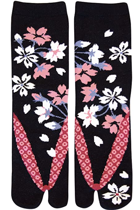 Amazon.com: Japonés Samurai Ninja Tabi calcetines; floración ...