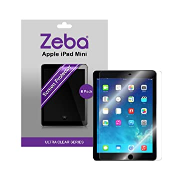 8568455b9975f8 Apple iPad Mini / iPad Mini 2 Retina Screen Protector - 6 Pack by Zeba®