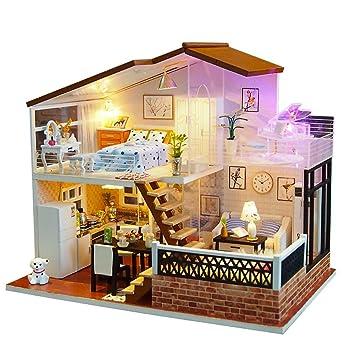 Maison De Poupee Bricolage Miniature Petite Maison Kit En Bois