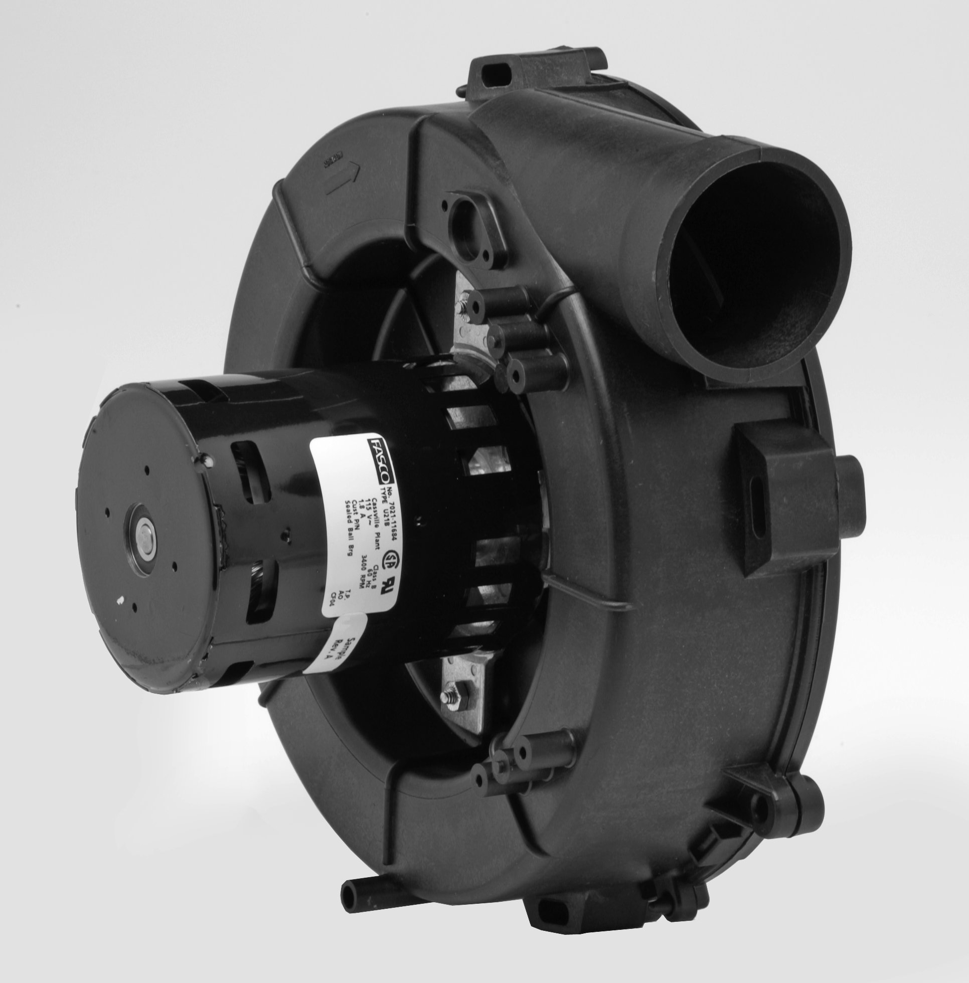 Fasco A204 3.3'' Frame Shaded Pole OEM Replacement Specific Purpose Blower with Ball Bearing, 1/20HP, 3400rpm, 115V, 60Hz, 1.8 amps