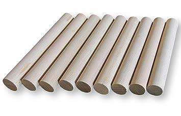 répliques le plus en vogue rétro BrilliantBuys 10 x Chevilles en Bois, Craft Bâtons de 20 mm d'épaisseur, 10  cm, 15 cm, 30 cm de Long, 10 cm