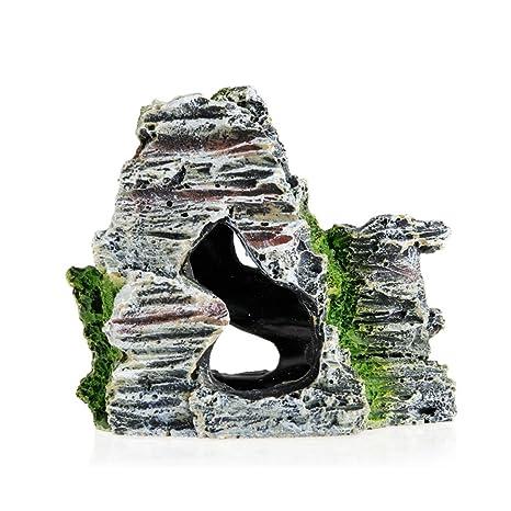 Lergo - Adorno artificial para acuario de montaña, árbol de rock, puente para pecera
