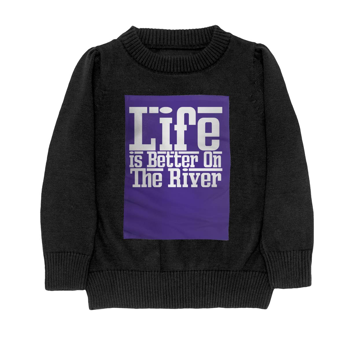 Life is Better On The River Style Teenager Boys Girls Unisex Sweater Keep Warm