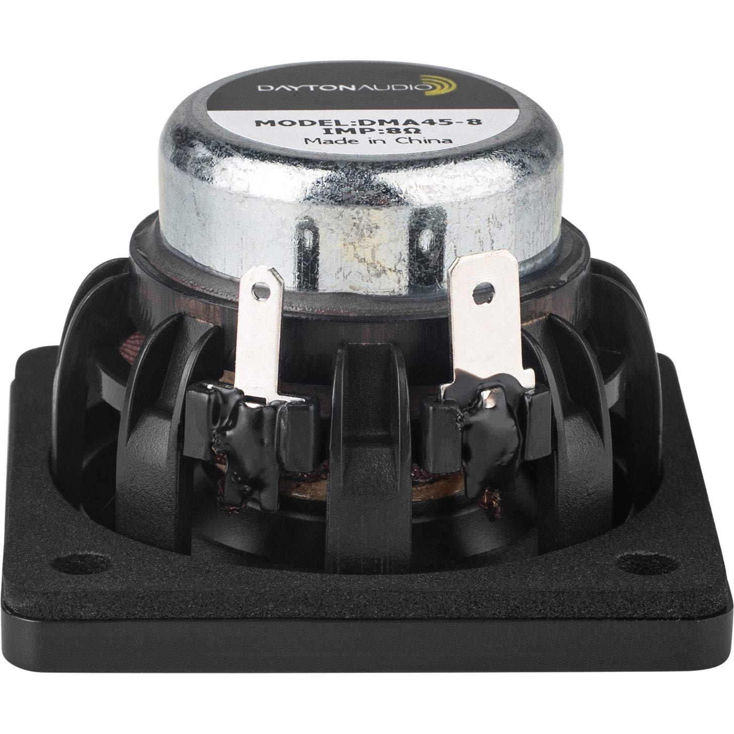 Dayton Audio DMA45-8 1-1//2 Dual Magnet Aluminum Cone Full-Range Driver 8 Ohm