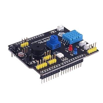 Amazon.com: makerfucos Arduino Expansion Board multifunción ...