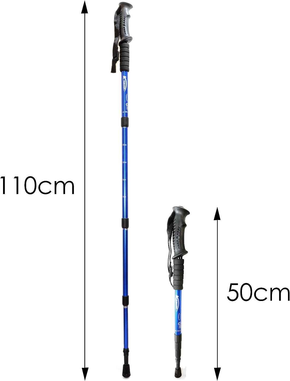 1 x Stock Teleskop Nordic Walking Stöcke Wanderstöcke Antischock 50-110cm Alu