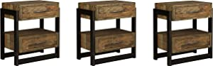 Ashley Furniture Signature Design - Sommerford Nightstand - Brown (Pack of 3)