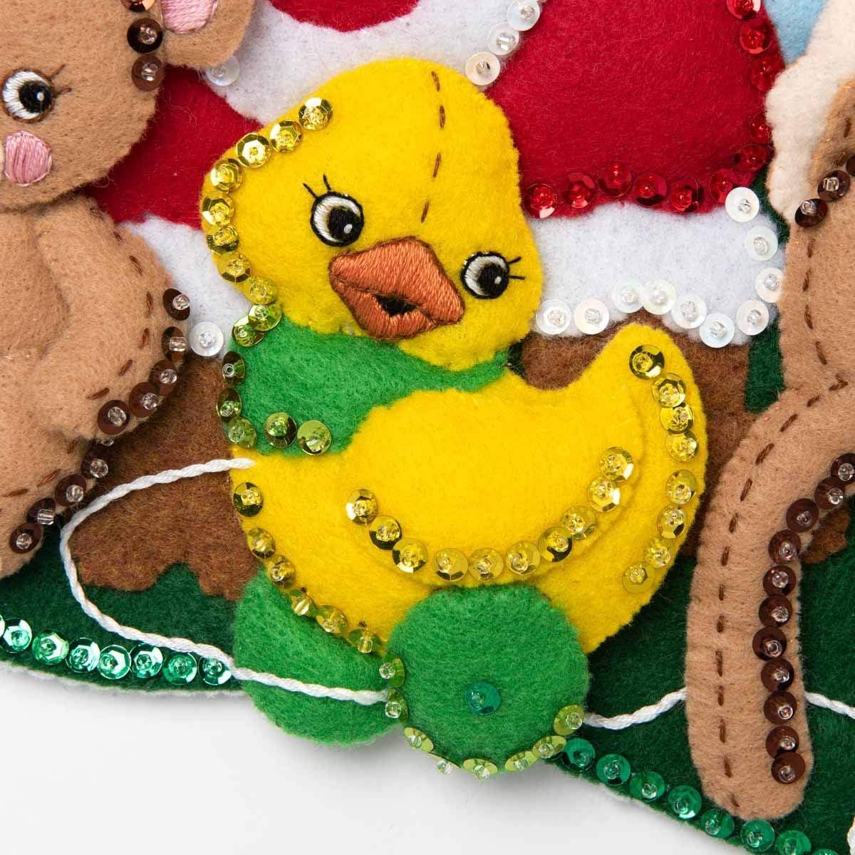 18 Bucilla 89229E Felt Applique Christmas Stocking Kit Toys from Santa
