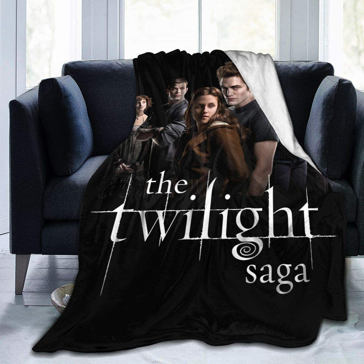 Wakaltk The Twilight Saga Throws Blanket Comfort Lightweigt Warmth Soft Cozy Blanket Fleece Blanket Couch Blanket Reversible Bed Throw TV Blanket for Kids Boys Girls 50'' X 40''