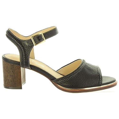 b3dcec8f5300 Clarks Women s Ellis Clara Black Leather Fashion Sandals-3 UK India (35.5 EU