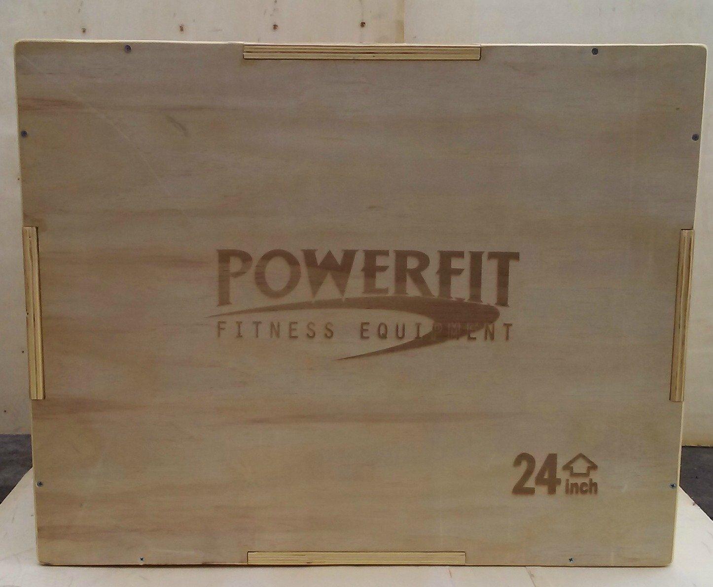 PowerFit 20''/24''/30'' Wooden Plyo Box