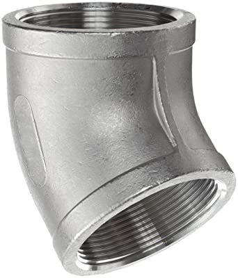 """Class 150 Stainless Steel 316 Cast Pipe Fitting 90° Degree Elbow 1//8/"""" NPT"""