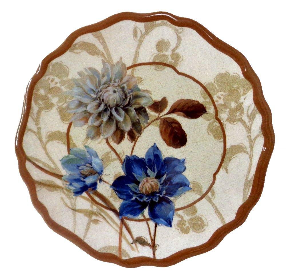 6 Blue Note Melamine Hors D' Oeuvre Plates