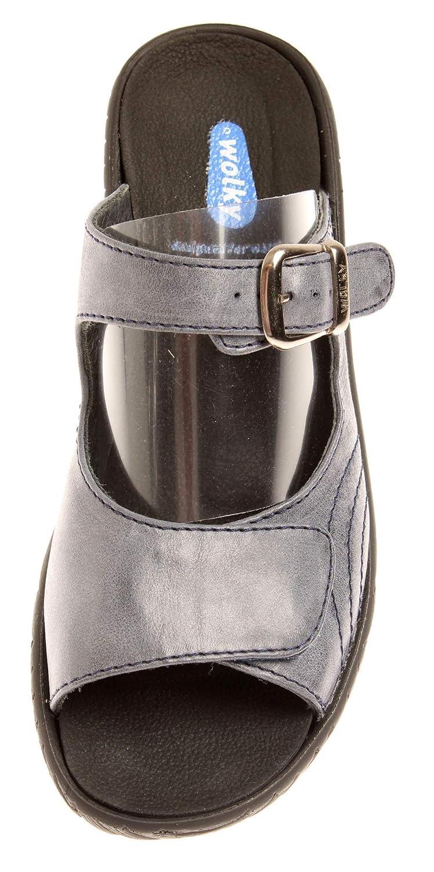 Wolky 4677 Negara Damen Lederpantolette Sommerschuhe Schuhe