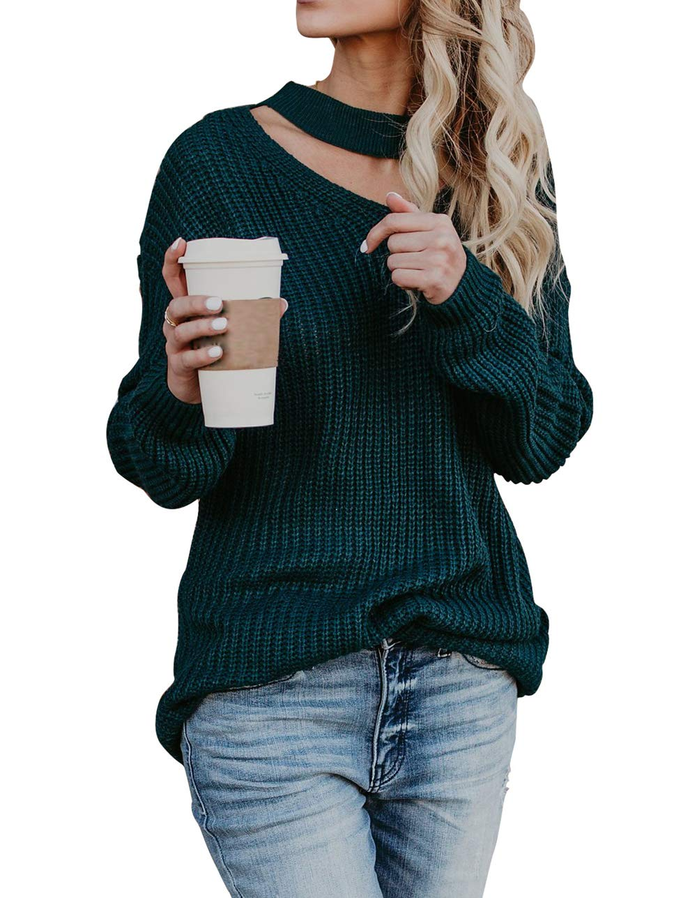 LovInParis Womens Casual Loose Knits Sweater Pullover Fashion Crew Neck Winter Tops