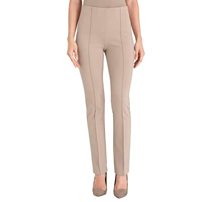 Chico's Women's Petite So Slimming Juliet Full Length Straight Leg Ponte Solid Pants at Women's Clothing store