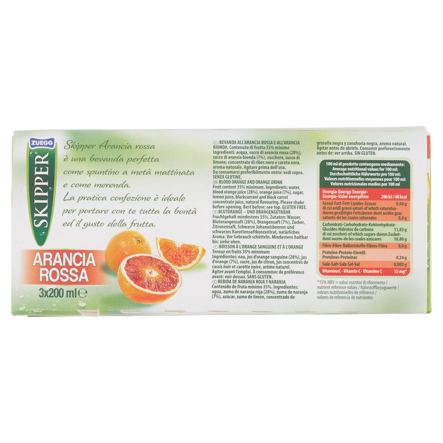 Amazon.com : Zuegg :Skipper Blood Orange and Orange Drink, Brick Pack of 3 x 200 ml / 6.76 oz : Grocery & Gourmet Food