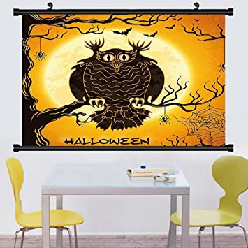 Amazon.com: Gzhihine Wall Scroll Halloween Decorations Collection ...