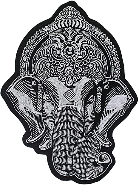 Elephant Applique Pattern | Crochet Animal Embellishment by Mamta | 612x466