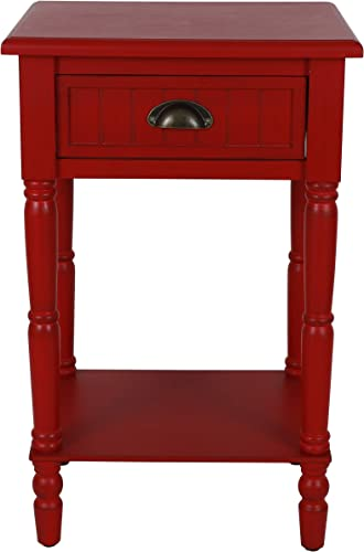 D cor Therapy Bailey Bead board 1-Drawer Accent Table