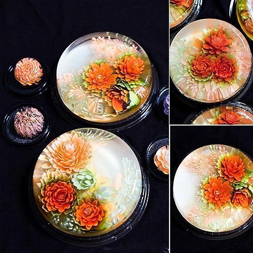 Espeedy Herramientas de decoración de flores de jalea,11 Unids / set Gelatina 3D Gelatina Arte de la Flor Herramientas de Inyección de Pasteles de Pudín de ...