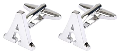 initial cufflinks alphabet letter by mens collections