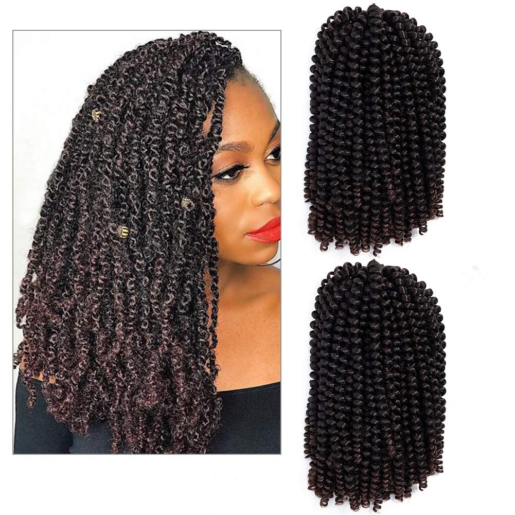 Aigemei Popular Spring Twist Natural Hair African American Kinkycurly Relaxed Plus 2018 Natural Hairstyles For African American Women 2 Packs 1b 33