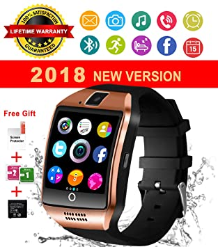 Montre Connectée,Smartwatch Bluetooth Smart Watch Phone Montre Intelligente Sport Montre Connectée avec Slot SIM