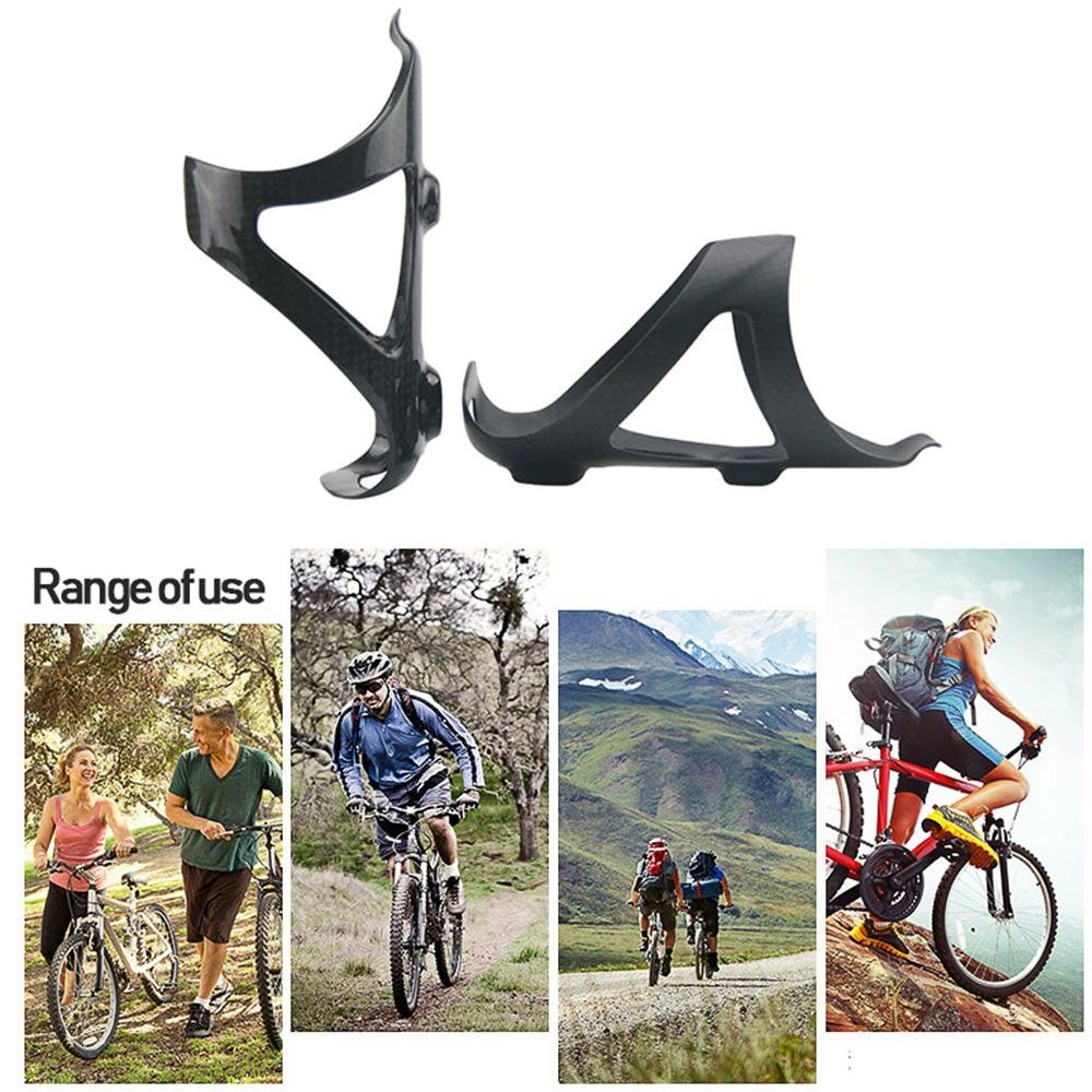 Carbon Fiber MTB Bike Bicycle Cycling Water Drink Bottle Holder Rack Cage Si FA