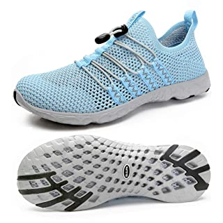 DLGJPA Women's Quick Drying Water Shoes for Beach or Water Sports Lightweight Slip On Walking Shoes