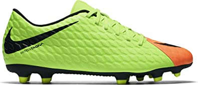 the best attitude 6f9f8 18f40 Nike Men s Hypervenom Phade III FG Soccer Cleat Electric Green Black Hyper  Orange