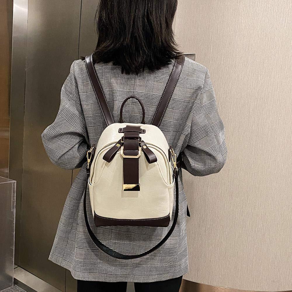 Damryggsäckar Yuan Ou damer sömnad ryggsäck mjukt läder ungdom flicka skolväska designer damer multifunktionell resväska 4 färger Khaki