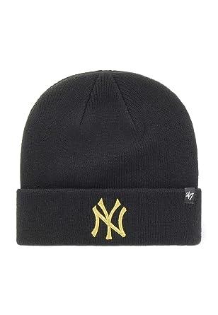 272187e6de2 47 Brand Knit Beanie - Metallic New York Yankees black  Amazon.co.uk ...