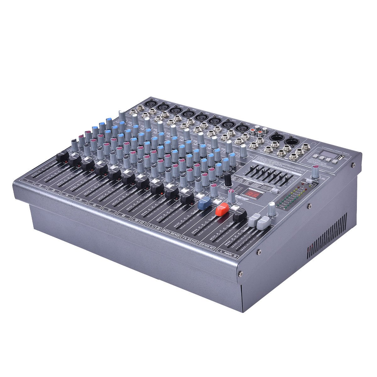 Costzon Professional 12 Channel Mixing Console Studio Audio Mixer 16