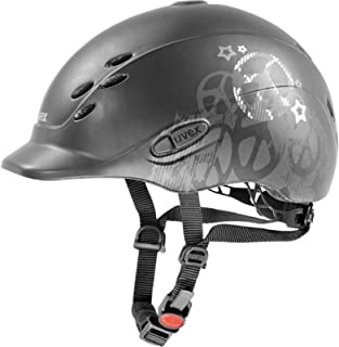 Uvex Onyxx Peace Children's Riding Helmet Black/Silver Size 3XS – XS (49-54 cm) by Uvex