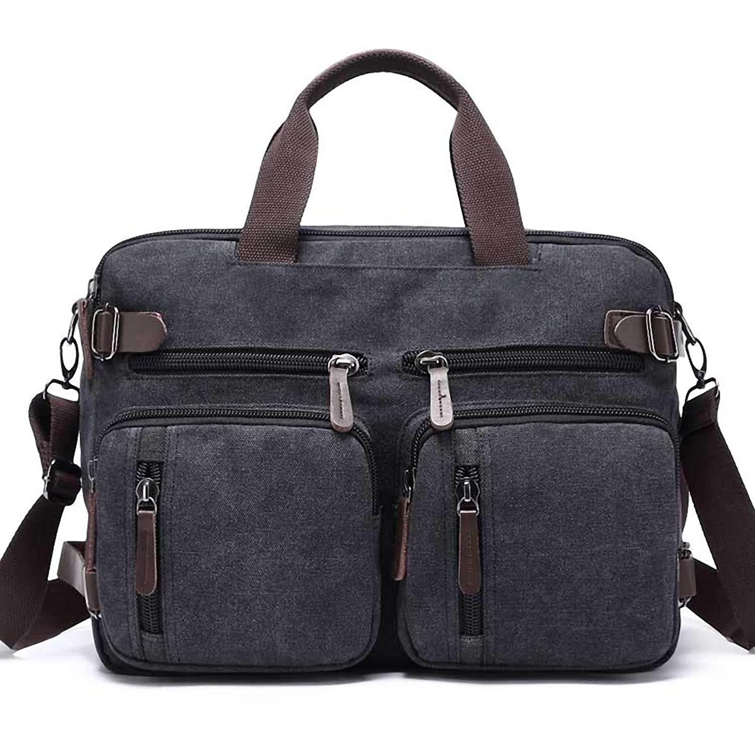 Kenox Vintage Laptop Backpack Messenger Briefcase Unisex Convertible Laptop Rucksack by Kenox
