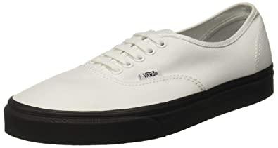 08afed5f22 Image Unavailable. Image not available for. Color  Vans Authentic Black  Outsole True White ...