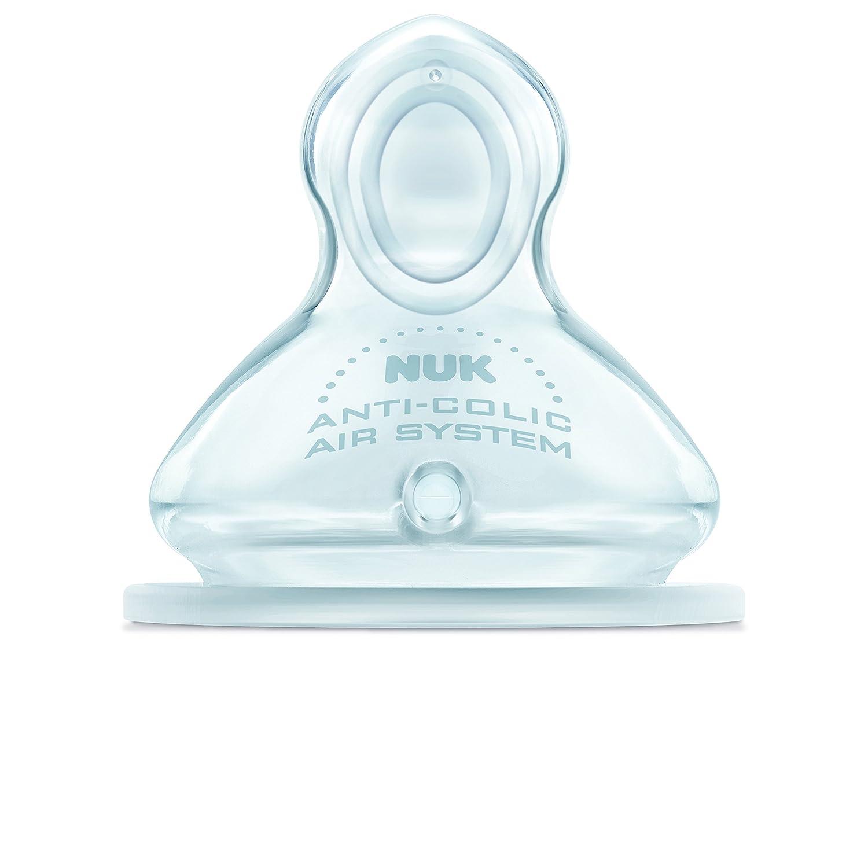 Nuk First Choice 710012 - Tetinas de silicona (2 unidades, talla 1, para leche, tamañ o M) tamaño M) Tigex