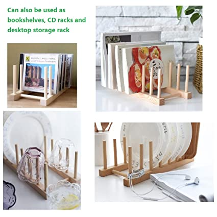 Plato plegable de madera SelfTek escurreplatos 7 placas placa de soporte  escurridor de cocina  Amazon.es  Hogar 926ec0a20e5c