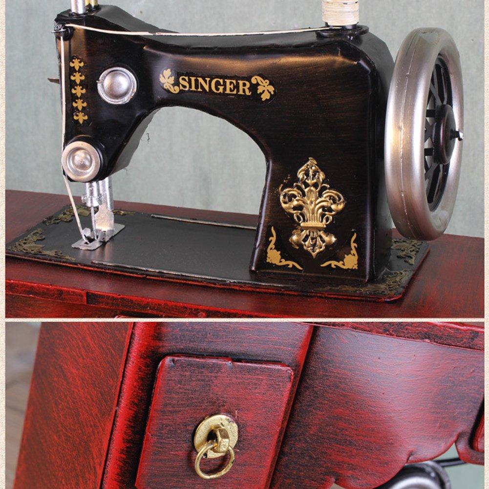 ZZYQ Modelo Vintage Hecho A Mano De Hierro Forjado Decoración Antigua Máquina De Coser Decoraciones para El Hogar: Amazon.es: Hogar